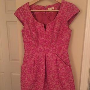 Chic Shoshanna Hot Pink Tweed Sheath Dress 👗